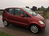 Mercedes A140 ELEGANCE 1.4L RED 11 Months MOT... FULL SERVICE HISTORY...