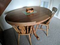 Solid Pine dinning table with 4 Chairs