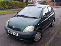 TOYOTA YARIS 998cc 5 DOOR FULL 12 MONTHS MOT LOW INSURANCE…Not Micra Corsa Honda Zafira VW Ford Seat
