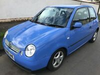 Volkswagen Lupo E 999cc Petrol 5 speed manual 3 door hatchback X Reg 01/09/2000 Blue