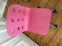 IKEA Jules Children's Pink Desk Chair on castors
