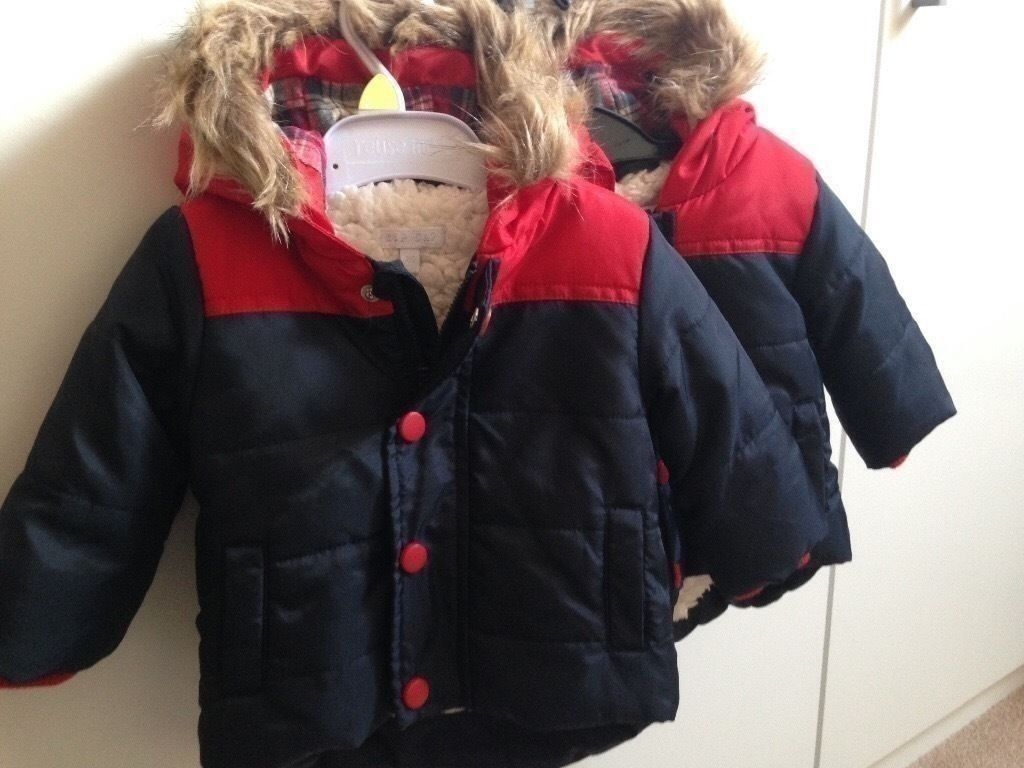 New Baby Boys Twin Coats 0-3 Months - Brand New