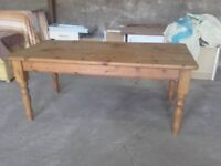 lovely large solid pine table 6ft by 3ft