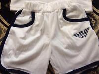 Boys Armani shorts and tshirt