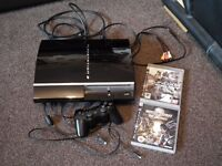 PS3 with leads controller & games *rare*