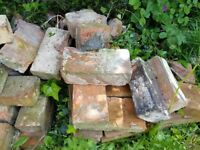 FREE approx 200 old handmade red bricks