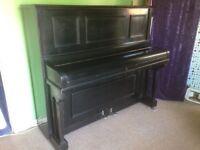 Cramer black upright piano