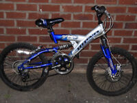 BLUE girls/boys Mountain Bike Cycle Suspension Kids Childs Cycle child disc bike Manchester
