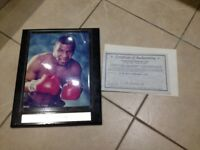 Iron Mike Tyson Autographed OFFICIAL