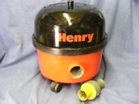 Henry Hoover 110v for site work with filter and HOSE
