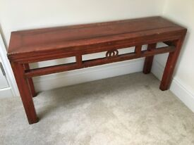 Long Red Chinese Bench (109 x 30 x 54 cm) - some scratches