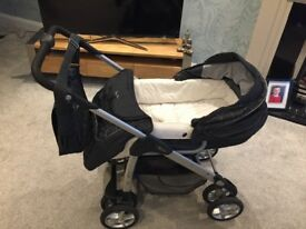 Silver cross pram, buggy and car seat