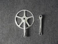 Newly Re-chromed Vintage Chainset (Cotter pin)