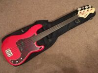 Revelation RPB-65F fretless precision bass