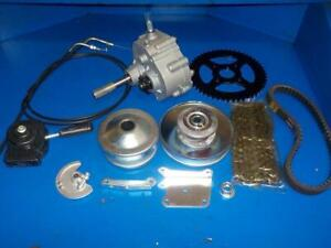 GO CART TRANSMISSION FORWARD/ REVERSE WITH CLUTCHES/ SPROCKETS/ SHIFTER BUGGY