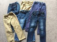 Six boys age 4-5 trousers. (4 from M and S)