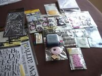 quantity of items suitable for card making, scrapbooking etc