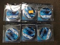 6 x Ultima Power Plus Fly Leader 4lb Fishing Line 30m Spools Brand New