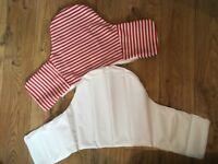 Inflatable Cushion + cover for Ikea Antilop high chair ; RED/BLUE STRIPE Hardly used