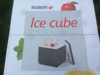 Rattan black cube table or ice box, Allibert brand,new in box Only £20 - collection only