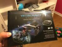 Virtual reality scope headset for smart phones