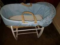 Moses basket comes with stand good condition