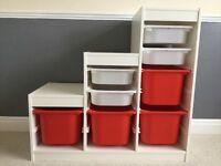 IKEA TROFAST storage unit with boxes