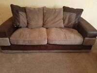 2 and 3 seater sofas with reversible cushions