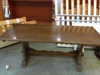Oak Farmhouse Dining Table