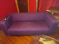 Purple ikea klippan sofa