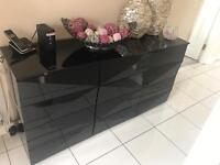 Next Sideboard, mirror and chandelier