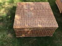 wicker table ,storage box,chiar,seat.