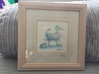 Duck and frog print picture