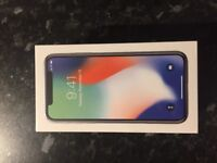 iPhone x 64 GB Silver SEALED