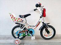 "(2560) 12"" APOLLO LULU Boys Girls Kids Childs Bike Bicycle + STABILISERS Age: 3-4; Height: 90-105 cm"
