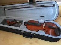 Child's Violin - 4x4; in carry case. Superb condition.