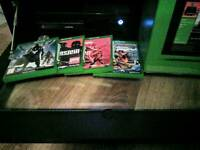 Xbox One with original box one controller and 4 games