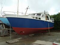 38 foot Steel Motor Cruiser, Liveaboard Boat Cornwall in beautiful Condition.