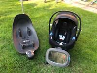 Cybex Aton M I-size baby car seat and isofix Base