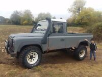 Land rover defender 110 pick up new mot