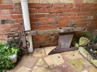 Vintage Plough Mole Drainer Rustic Country Garden Agricultural Machinery