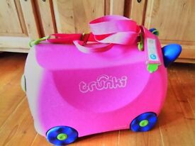 Trunki ride on suitcase - pink