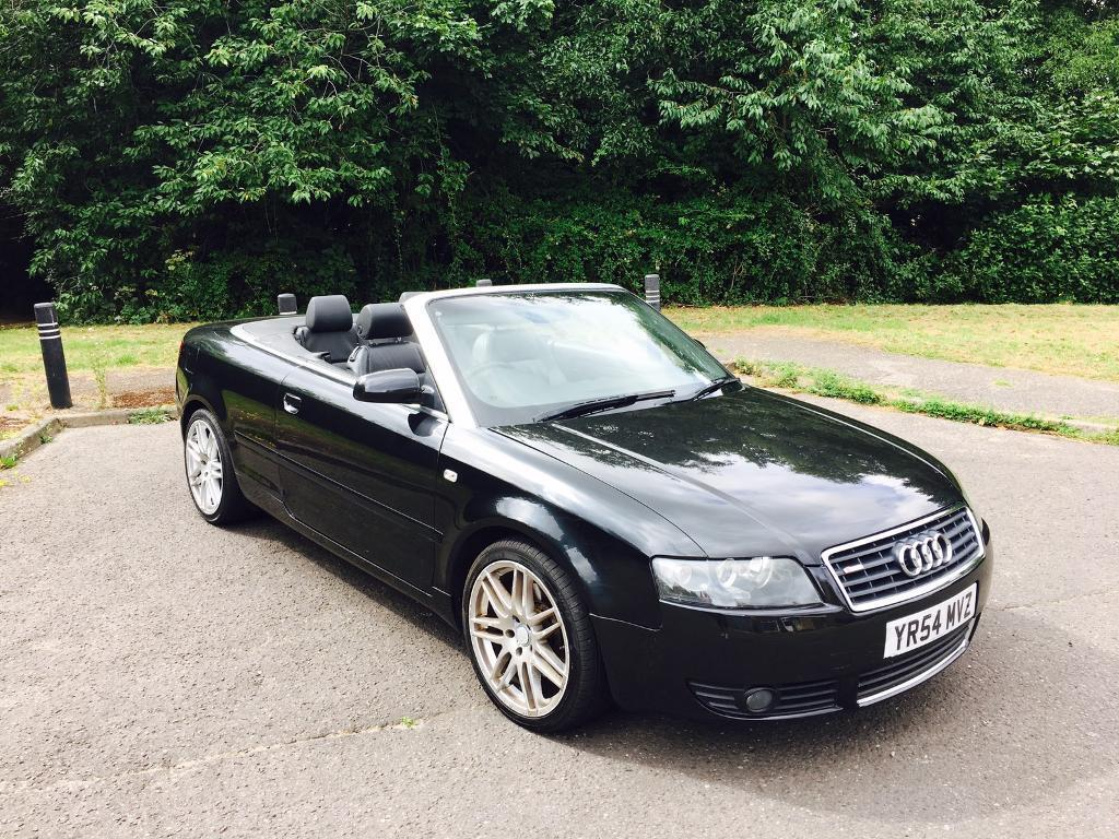 audi a4 convertible 2004 54 reg black electric roof rs4 alloys in bournemouth dorset gumtree. Black Bedroom Furniture Sets. Home Design Ideas
