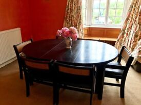 Dark Wood Dinning Table and 6 chairs
