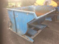 Forklift tip bins