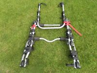 Halfords rear high 3 bike rack carrier excellent condition fitted ford fiesta or similar