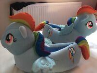 My Little Pony Rainbow Dash slippers size 32/33