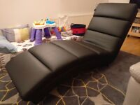 black leather chaise furniture village hardly been used