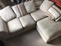 Comfy fabric corner sofa - delivery possible