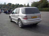Mercedes ml320 silver auto 2002